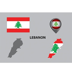 Map of lebanon and symbol vector