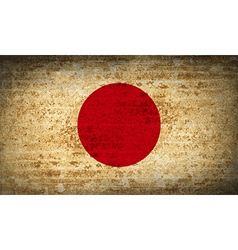 Flags japan with dirty paper texture vector