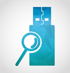 Usb icon vector