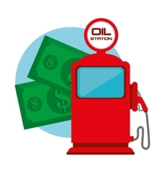 Petroleum and oil industry prices vector