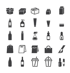 Packaging icon set vector