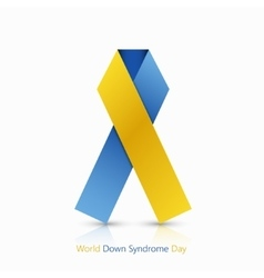 World down syndrome day symbol on white vector