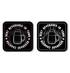 Square beverage coaster white vector