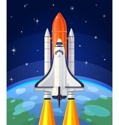 A space rocket launch vector