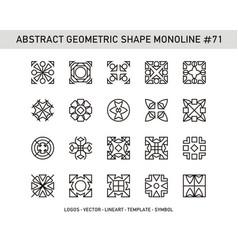 Abstract geometric shape monoline 71 vector