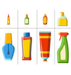 bath plastic bottle shampoo container shower flat vector image