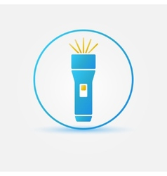 Bright flashlight icon vector image