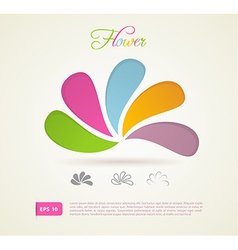 Colored flowers for your design vector image