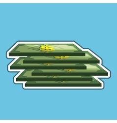 dollar bills isolated icon design vector image