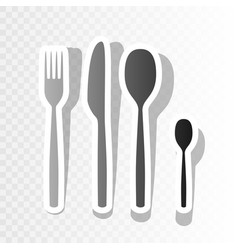 Fork spoon and knife sign new year vector
