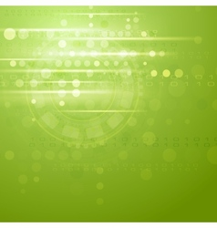Green hi-tech background vector