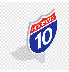 interstate highway sign isometric icon vector image