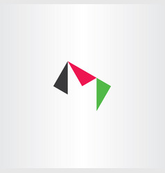 M letter triangle logo icon vector