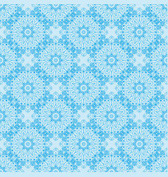 Pattern with floral circular ornaments vector