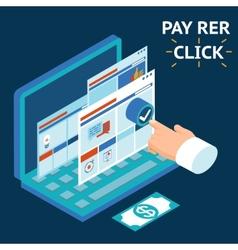 Pay per click infographics vector