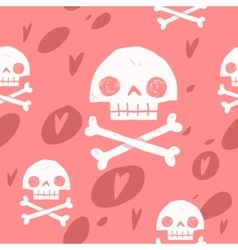 Pirate cartoon skull flag party card vector
