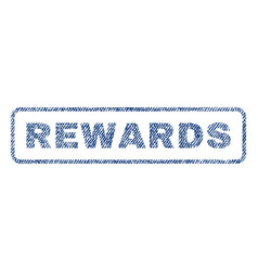 Rewards textile stamp vector