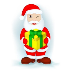 santa with a gift vector image vector image
