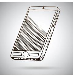 Smartphone sketch vector image