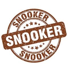 Snooker brown grunge round vintage rubber stamp vector