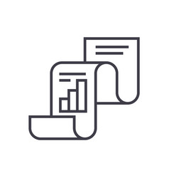 statistical reportstatistics line icon vector image