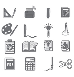tools learning icon set 3 vector image vector image