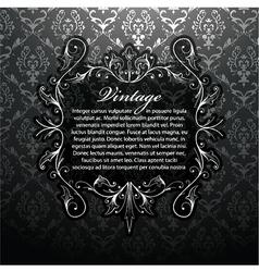vintage silver floral frame vector image