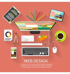 Web design Program for design and architecture vector image
