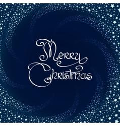 Winter swirl christmas card vector