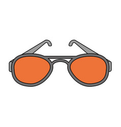 Color image cartoon fashion glasses vector