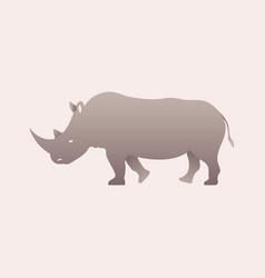 Silhouette of a rhino rhinoceros side view vector