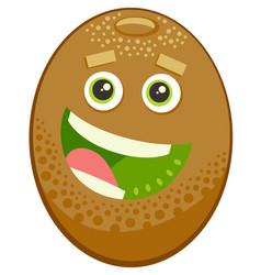Cartoon kiwi fruit character vector