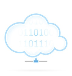 Cloud Storage Icon vector image
