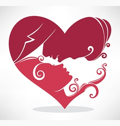 romantic couple vector image