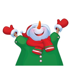 Snowman costume vector