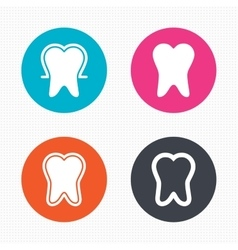 Tooth enamel protection icons dental care signs vector