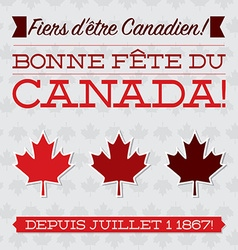 Flat typographic canada day card in format vector