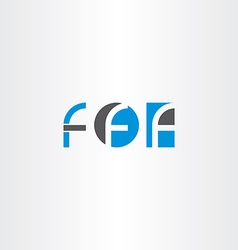 Letter f blue black logo set icon vector