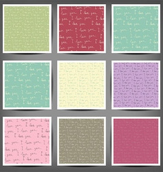 Set grunge hand painted abstract pattern vector