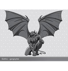 gothic gargoyle vector image