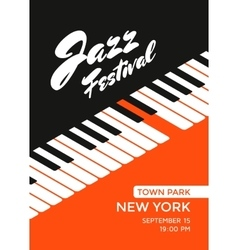 Jazz music festival vector