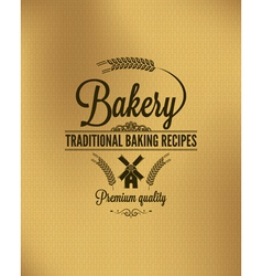 bakery vintage bread label background vector image