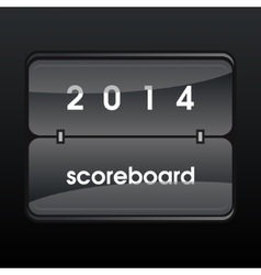 Black mechanical scoreboard vector