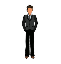 Business man cartoon standing people employee vector
