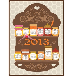 CALENDAR HONEY vector image