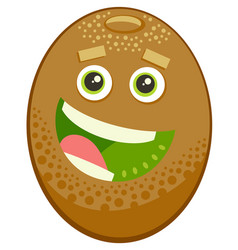 cartoon kiwi fruit character vector image vector image