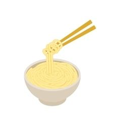 Chinese noodles icon isometric 3d style vector image vector image