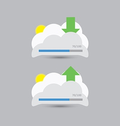 cloud download and upload 9 vector image vector image