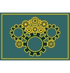 cog wheels background vector image vector image