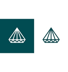 Diamond Icon Set of two Minimal Flat style vector image